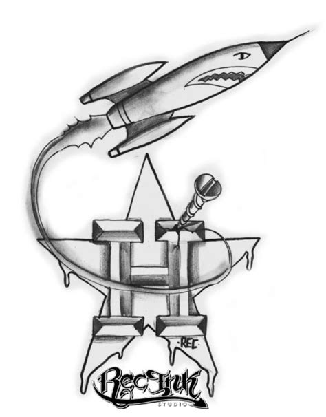 h town tattoo designs rec go rockets h town by txrec on deviantart