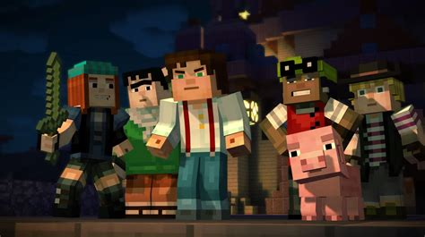 minecraft story mode here s your first look at telltale s minecraft story