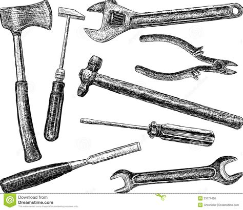 doodle how to make tools tools royalty free stock image image 33171456