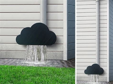 decorar desagues una buena idea decorar con una nube el extremo de un canal 243 n