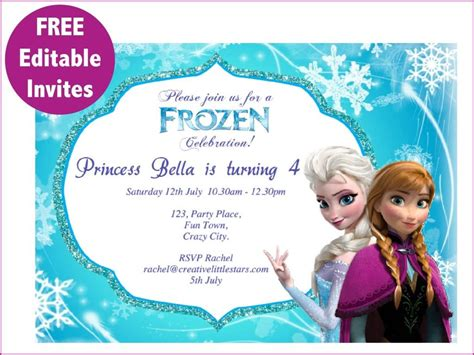 frozen invitation card free template frozen printables free free frozen invite 01