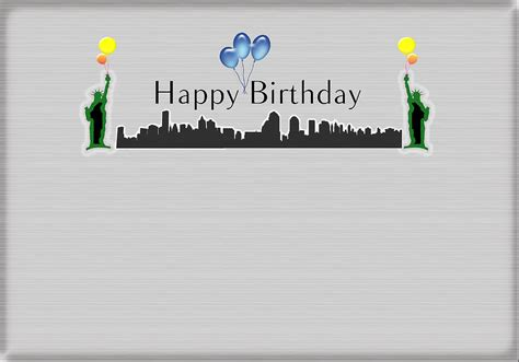 New York And Company Online Gift Card - happy birthday card new york city statue of liberty digital art by becca buecher