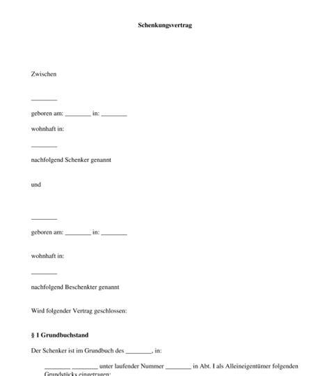 Muster Leihvertrag Schweiz schenkungsvertrag vorlage zum ausf 252 llen word und pdf