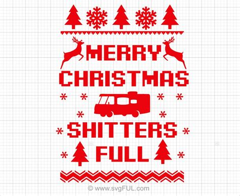 merry christmas shitters full svg  svgful
