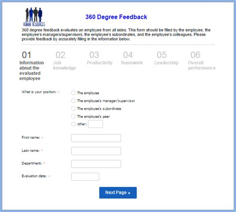 360 degree feedback form how human resources departments can benefit from