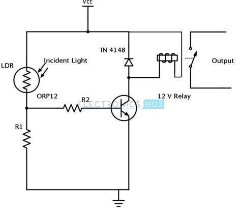 light dependent resistor light switch light dependent resistor circuit diagram intergeorgia info