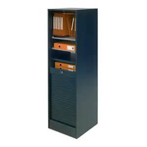 armoire de bureau 224 rideau en bois avec serrure matha noir