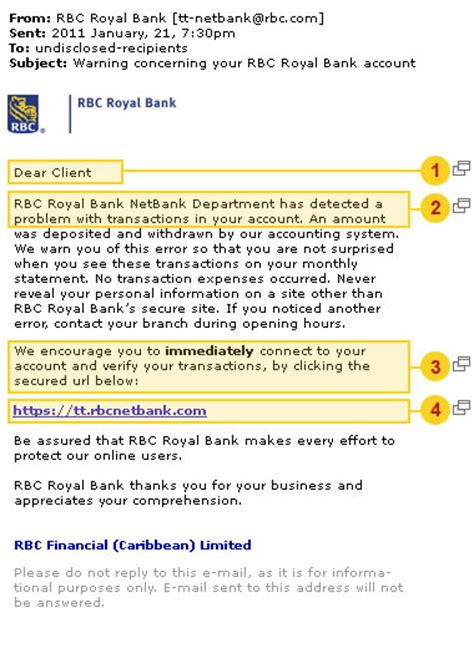 Letter Of Credit Rbc Email Phishing Scams How To Protect Yourself