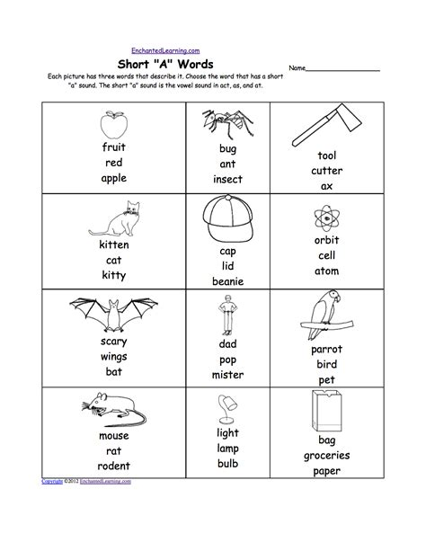 A Phonics Worksheet by A Alphabet Activities At Enchantedlearning