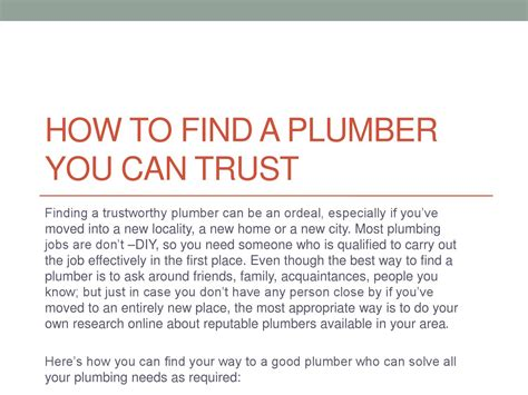 Find A Plumber How To Find A Plumber You Can Trust By Doherty Plumbing
