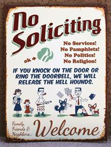 1000 images about no soliciting signs on no