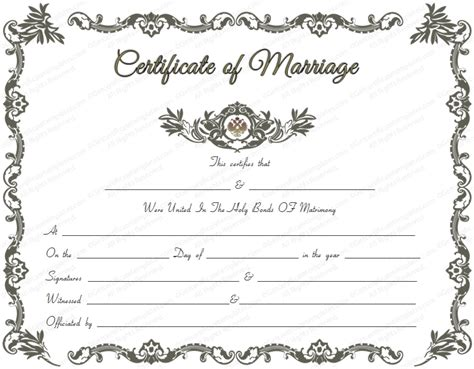 marriage certificate templates free printable marriage license template printable template 2017