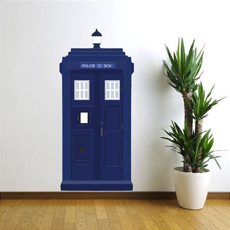 Tardis Wall Mural dr who tardis vinyl wall decal tardis wall decal dr