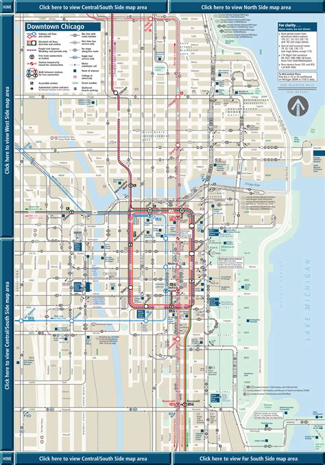 chicago loop map map of downtown chicago loop pictures to pin on pinsdaddy