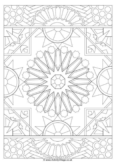 islamic new year coloring pages islamic design colouring page 2