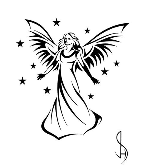 tribal angel tattoo designs guardian design tribal design style by