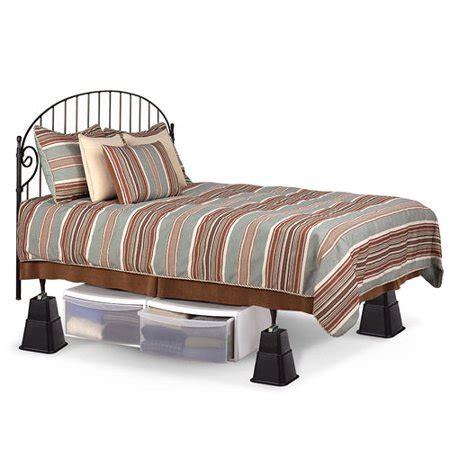 adjustable bed risers walmart