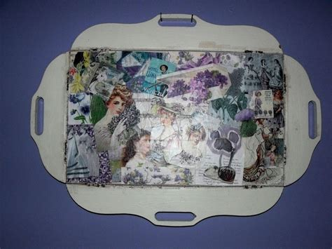 decoupage a tray decoupaged serving tray 183 a tray 183 decoupage on cut out keep