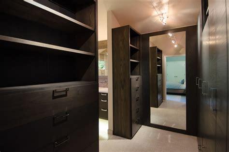 Walk In Closet Master Bedroom by Master Bedroom Walk Through Closet Custom Cabinetry Closet Portland By