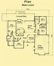3 Bedroom House Plans One Story Single Story House Plans For Contemporary 3 Bedroom Home