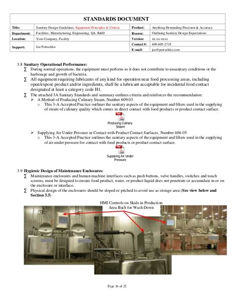 equipment layout guidelines sanitary equipment design guidelines part 1 of 2