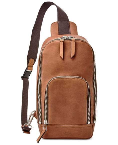 fossil backpack by fossil fossil miller leather crossbody backpack in brown for