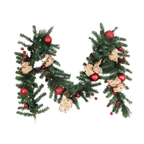 home accents holiday 9 ft battery operated burlap holiday