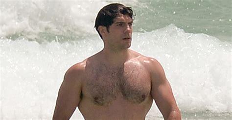 phil mattingly shirtless henry cavill bares his buff superman at the