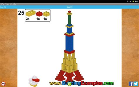 How To Make A Tower With One Of Paper - eiffel tower in bricks android apps on play