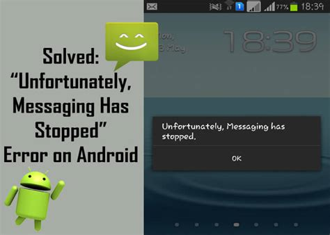android unfortunately has stopped working solutions to fix quot unfortunately messaging has stopped quot error on android