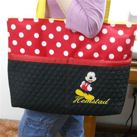 Tote Bag Mickey Minnie mickey mouse large tote bag polka dot black