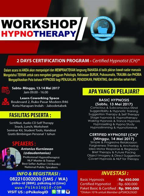 Enjoying With Hypnosis Untuk Kehidupan Sehari Hari Eiroul Bm workshop hypnotherapy certified psikologid