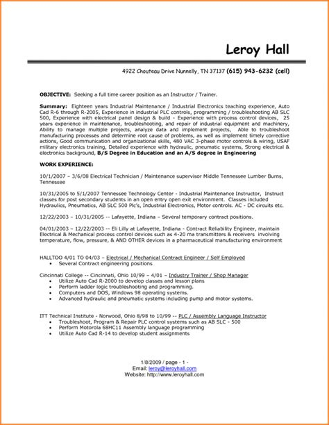 electronic technician resume inspiredshares