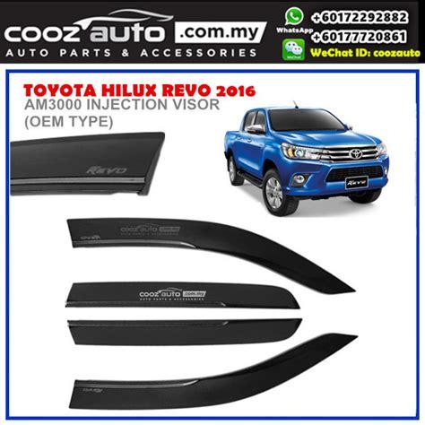 Toyota Agya 2016 Talang Air Injection Side Visor Injection toyota hilux revo 2016 2017 anti uv acrylic injection door visor oem