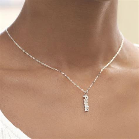 personalized mini name necklace monogram