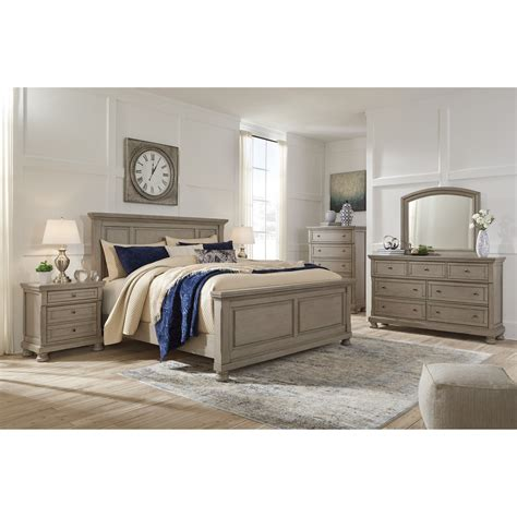 signature design  ashley lettner queen bedroom group  city furniture bedroom groups