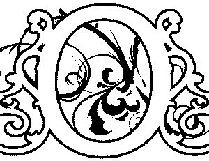 coloring pages illuminated letters illuminated o coloring page