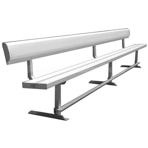 team bench aluminum team bench with backrest schoollockers com