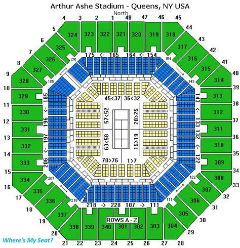 us open seating capacity arthur ashe stadium ny seating chart view