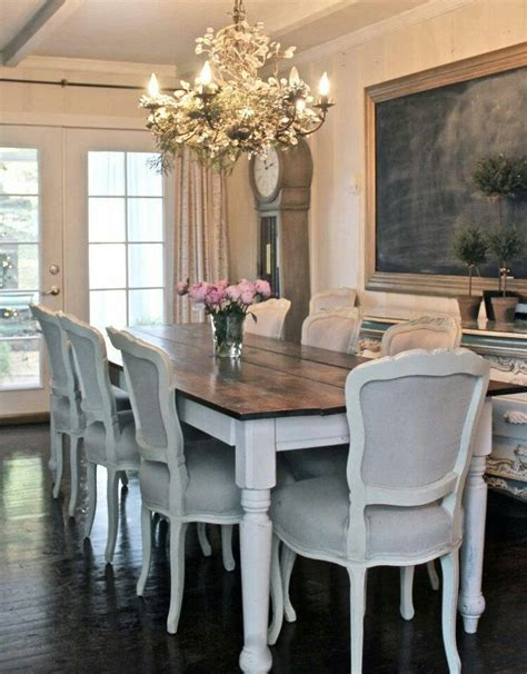 Farmhouse Style Dining Table And Chairs Rustic Chic Home Sweet Home Pinterest