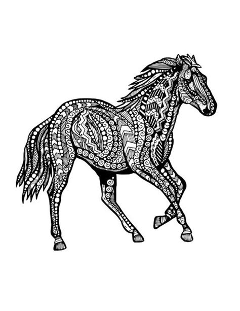 zentangle pattern horse coloration chevaux and zentangle on pinterest