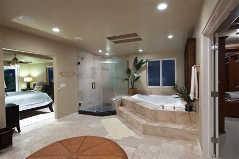bath in bedroom ideas open bathroom concept for custom master bedroom with