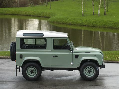 green land rover defender 2015 land rover defender 90 heritage station wagon