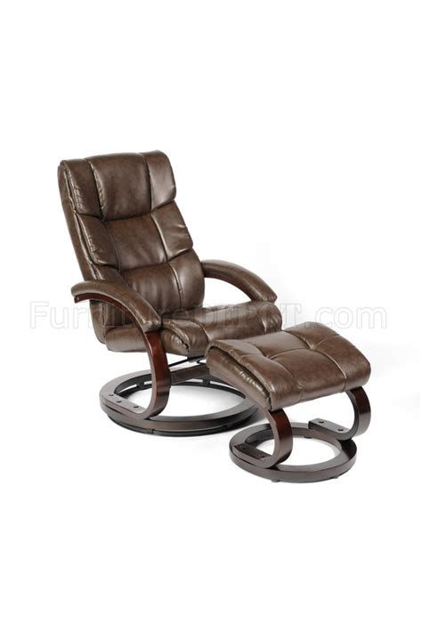 Modern Leather Recliner With Ottoman Savuage Bonded Leather Modern Recliner Chair W Ottoman