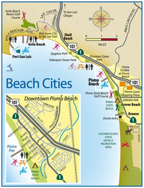 map of pismo california pismo visitors guide san luis obispo county