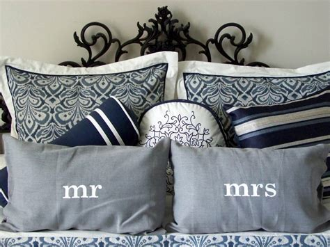Mr And Mrs Pillows by Painted Mr And Mrs Pillows Diy Home