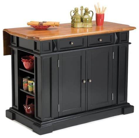 houzz com kitchen islands home styles kitchen island with breakfast bar in black