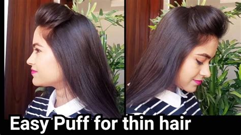 puff hairstyle for thin hair video perfect puff hairstyle for thin hair simple craft ideas