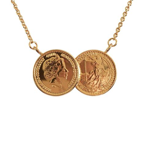 classic two coin necklace www sparklingjewellery