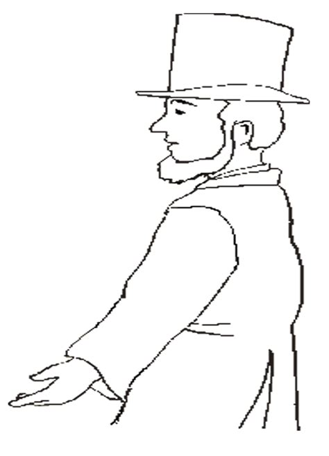 abraham lincoln coloring pages coloring home